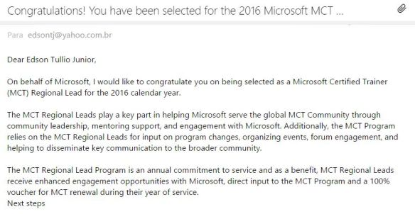 MCT Regional Lead 2016