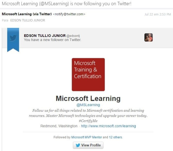 Twitter Microsoft Learning
